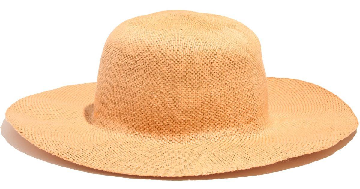 d96548b84e7 Madewell Biltmorereg For Panama Hat in Orange - Lyst
