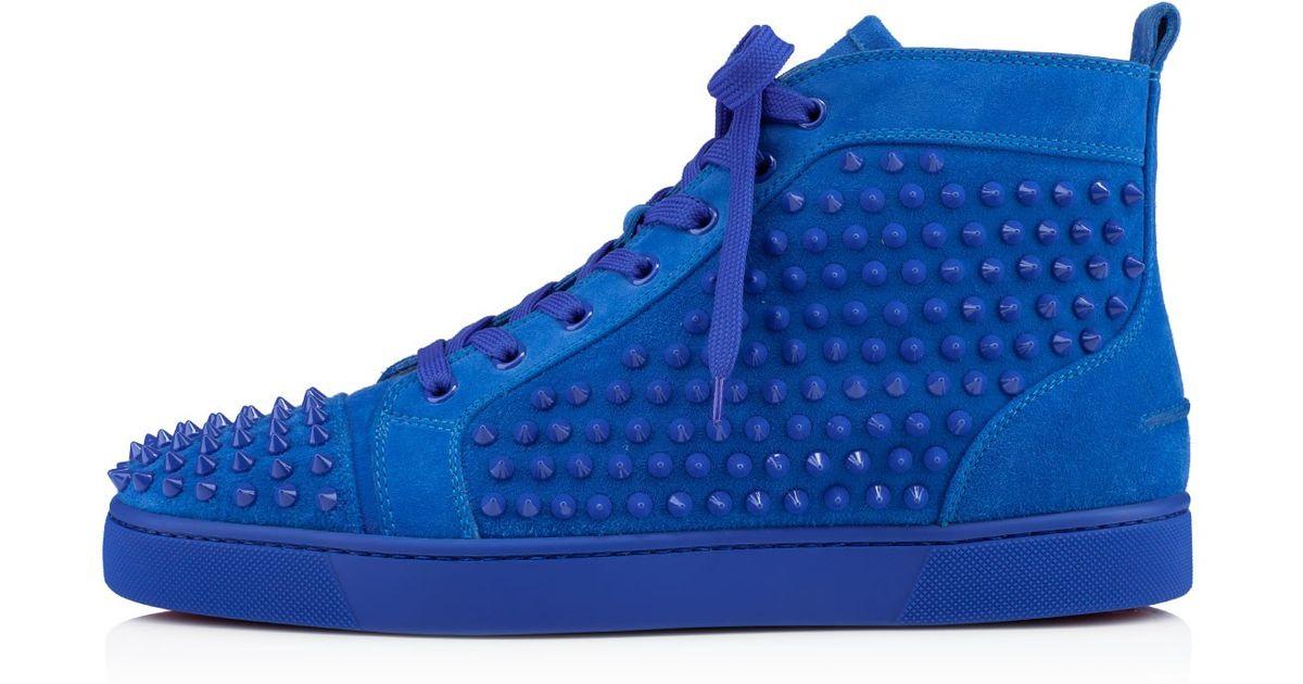1121767e9de Lyst - Christian Louboutin Men s Louis Flat Sneakers in Blue for Men