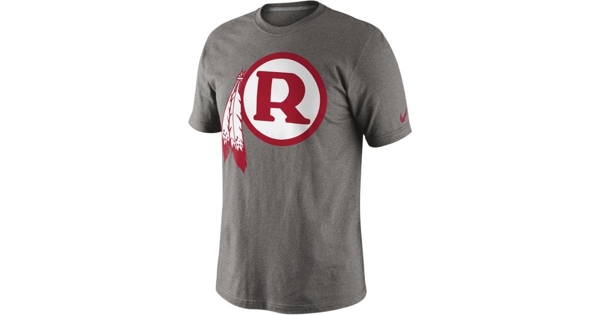 32bad4b3 Nike - Gray Redskins Retro Logo T-shirt for Men - Lyst