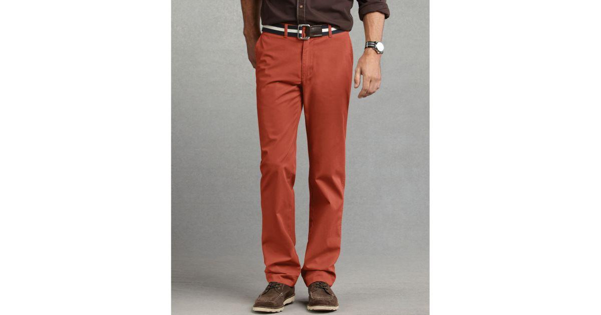 e613748b5 Tommy Hilfiger Graduate Slim Fit Chino Pants in Orange for Men - Lyst