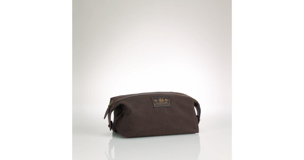 ... Duffle Bag 138.60  save off 163b7 5019f ... lyst polo ralph lauren oil  cloth shaving kit in ... 7d872c224f