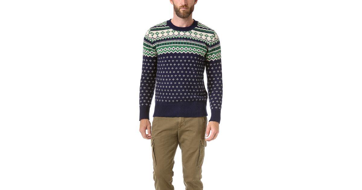 Lyst - Gant rugger Winter Jacquard Sweater in Green for Men