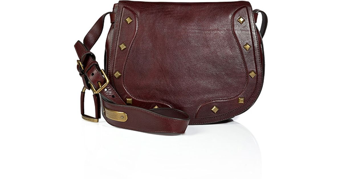 Lyst Ralph Lauren Collection Vintage Leather Saddle Bag In Antique Brown