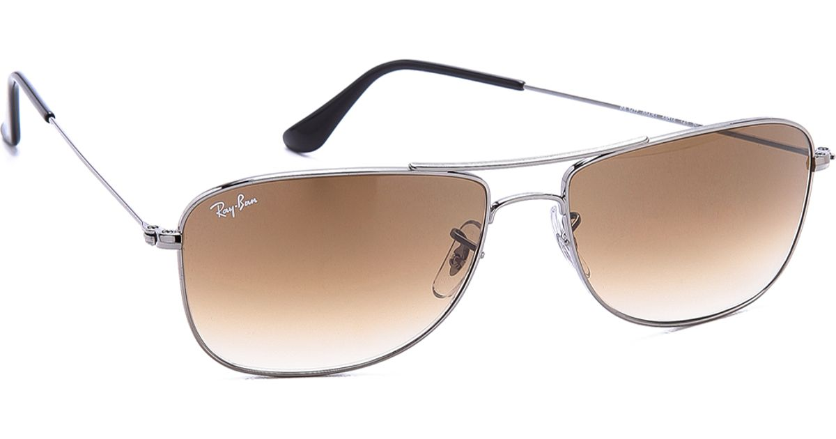 7fcb4937fb ... real lyst ray ban caravan sunglasses in gray for men aeda5 22833