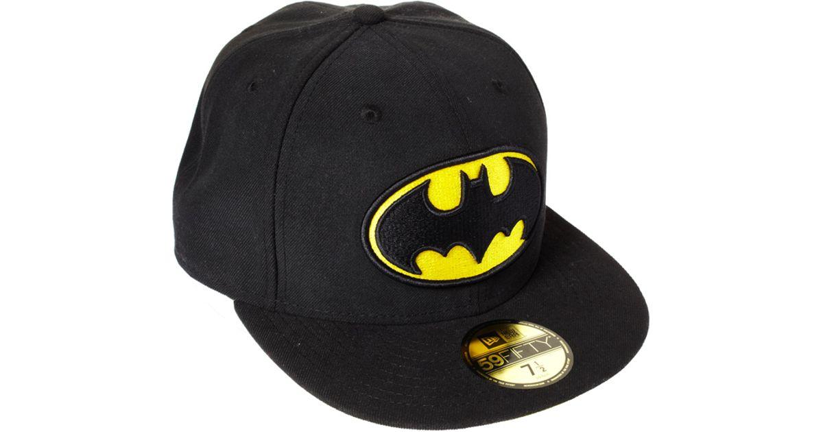 Lyst - ASOS New Era 59fifty Batman Cap in Black for Men fec56ec8478