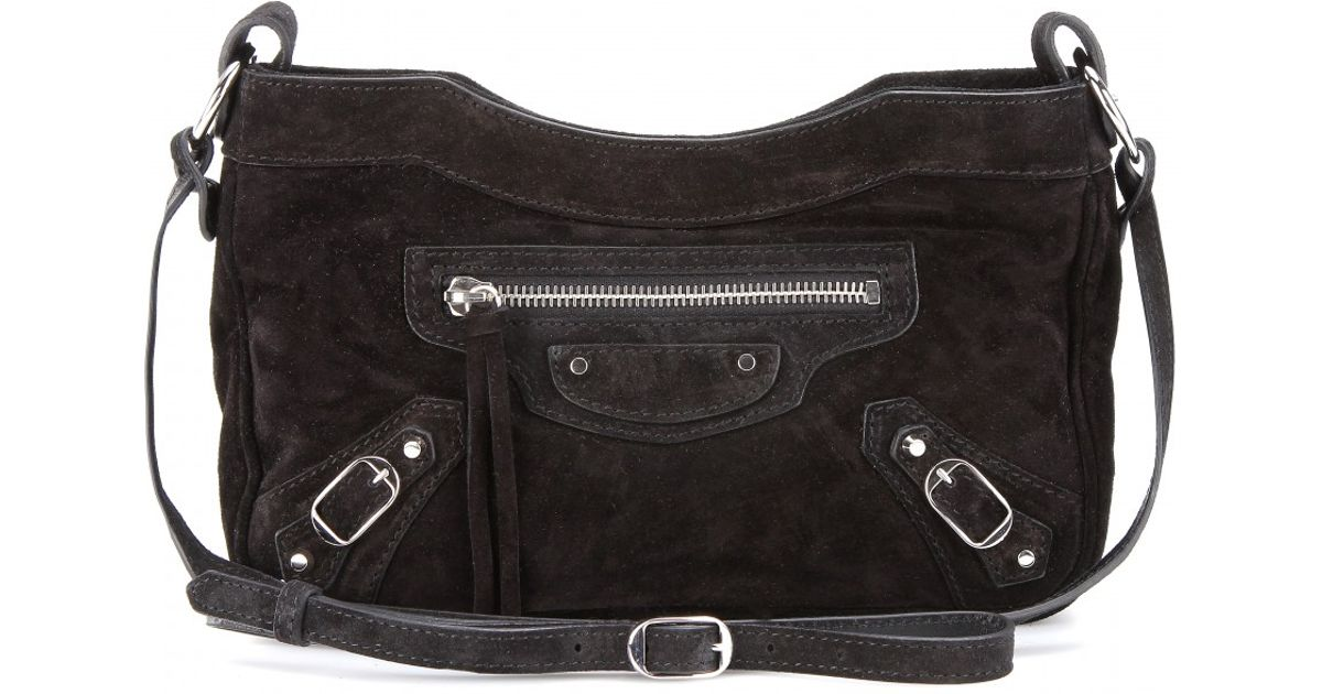 e81b8859c6 Lyst Balenciaga Classic Hip Suede Shoulder Bag In Black