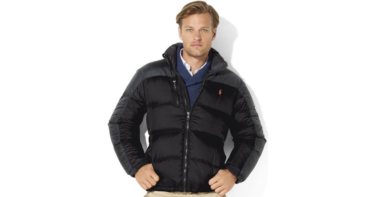 03bc2cd815f2 Lyst - Ralph Lauren Snow Polo Core Trek Down Jacket in Black for Men