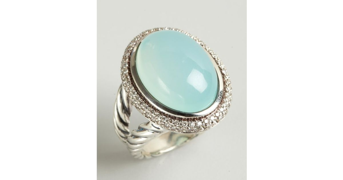 blue silver chalcedony gemstone buy aqua oval handmade ring rings