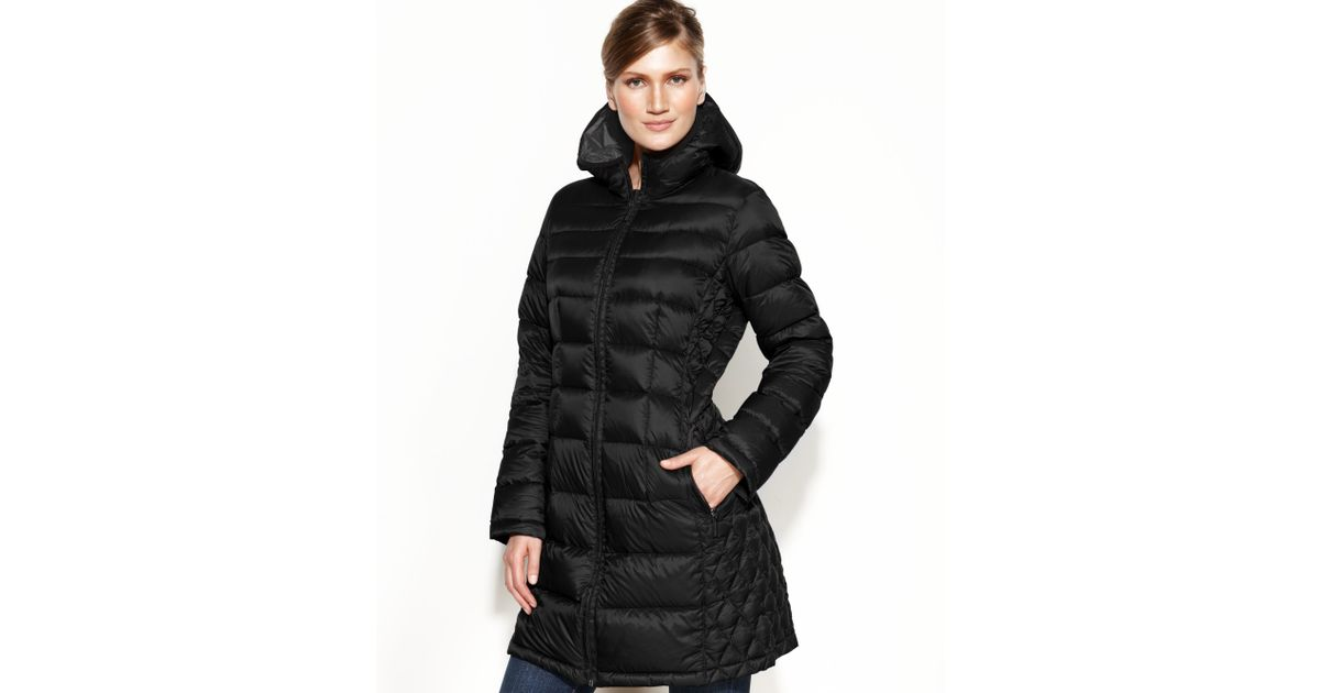 Lyst Michael Kors Hooded Quilted Down Packable Puffer In Black