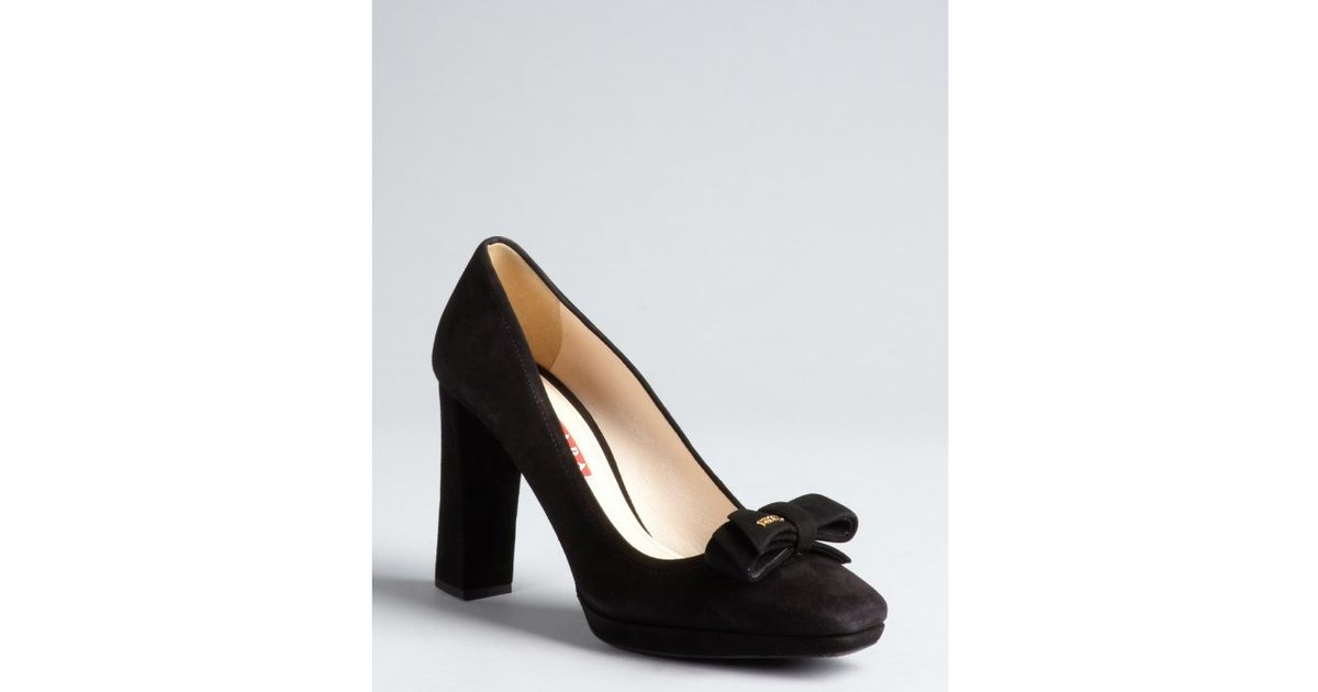 free shipping genuine Prada Sport Suede Square-Toe Pumps outlet store locations cheap price buy discount cheap classic VQDiAEE
