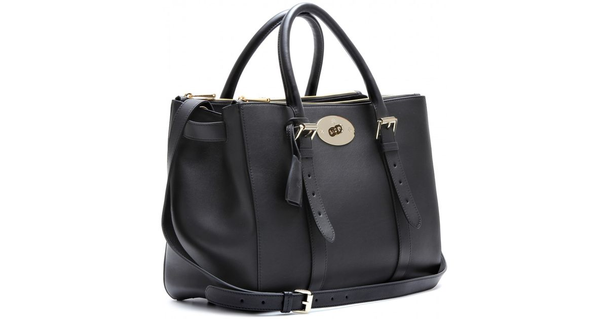 f03d8d87fa Lyst - Mulberry Bayswater Double Zip Leather Tote in Black