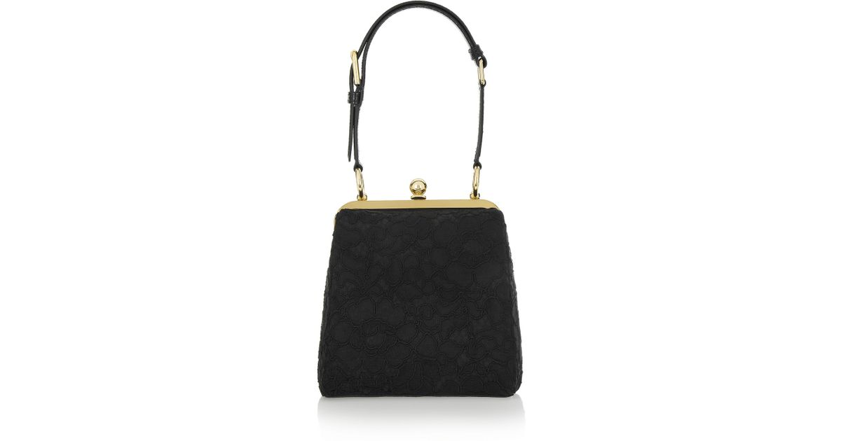e0926839d3 Lyst - Dolce   Gabbana Miss Agata Ayerstrimmed Lace Shoulder Bag in Black