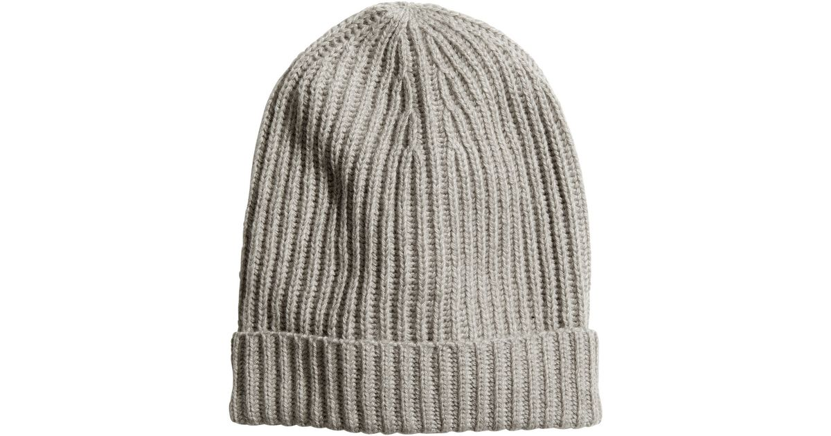 6c3a45643f0 H M Ribknit Hat in Gray - Lyst