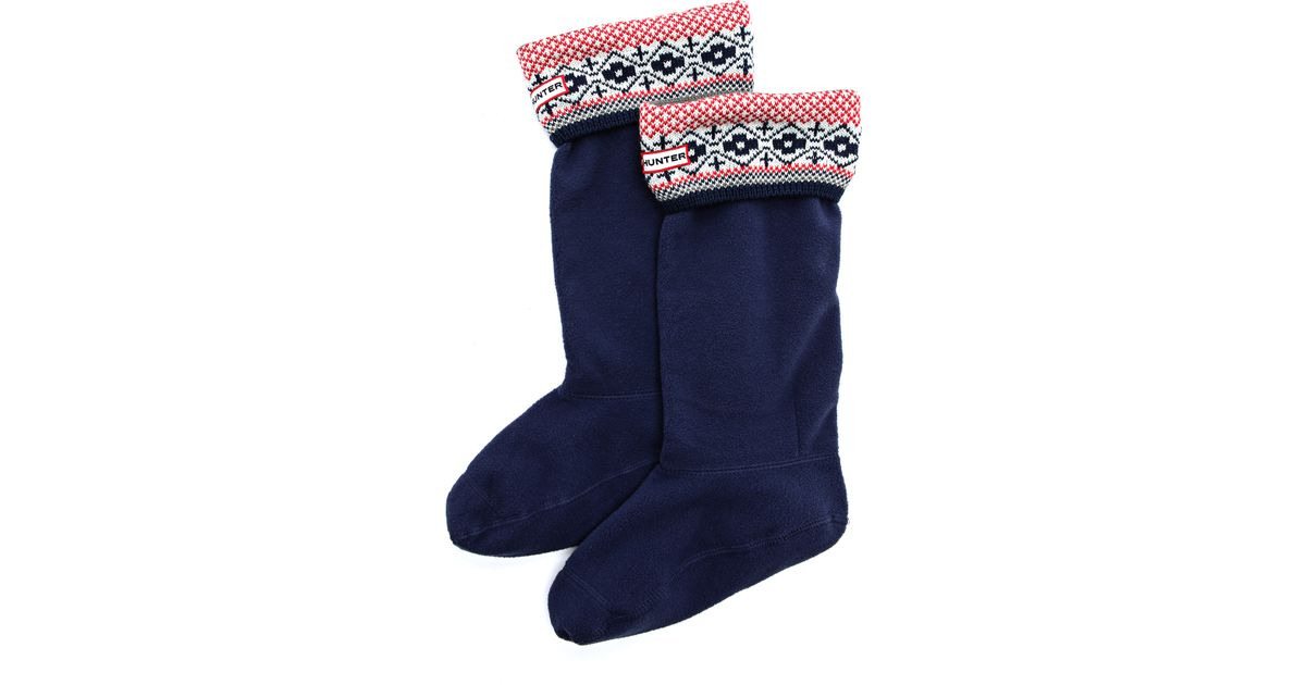 Hunter Fair Isle Welly Socks] Reload Of Shoes Rakuten Global ...