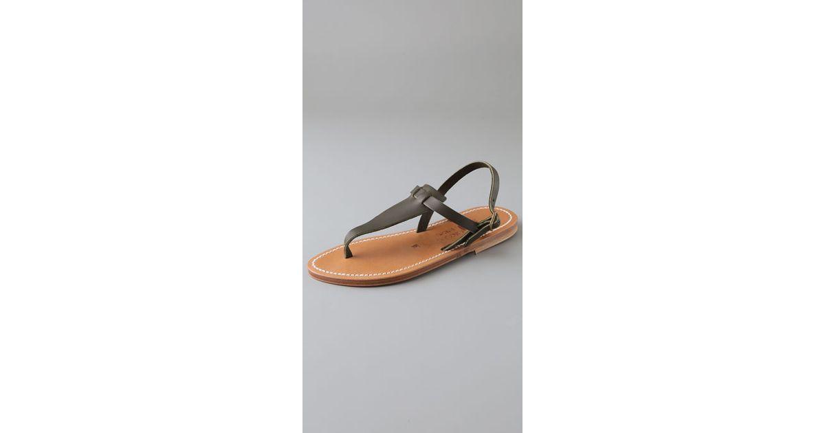 45fe2b6de65 Lyst - K. Jacques Cyrus Broad Thong Sandals in Natural
