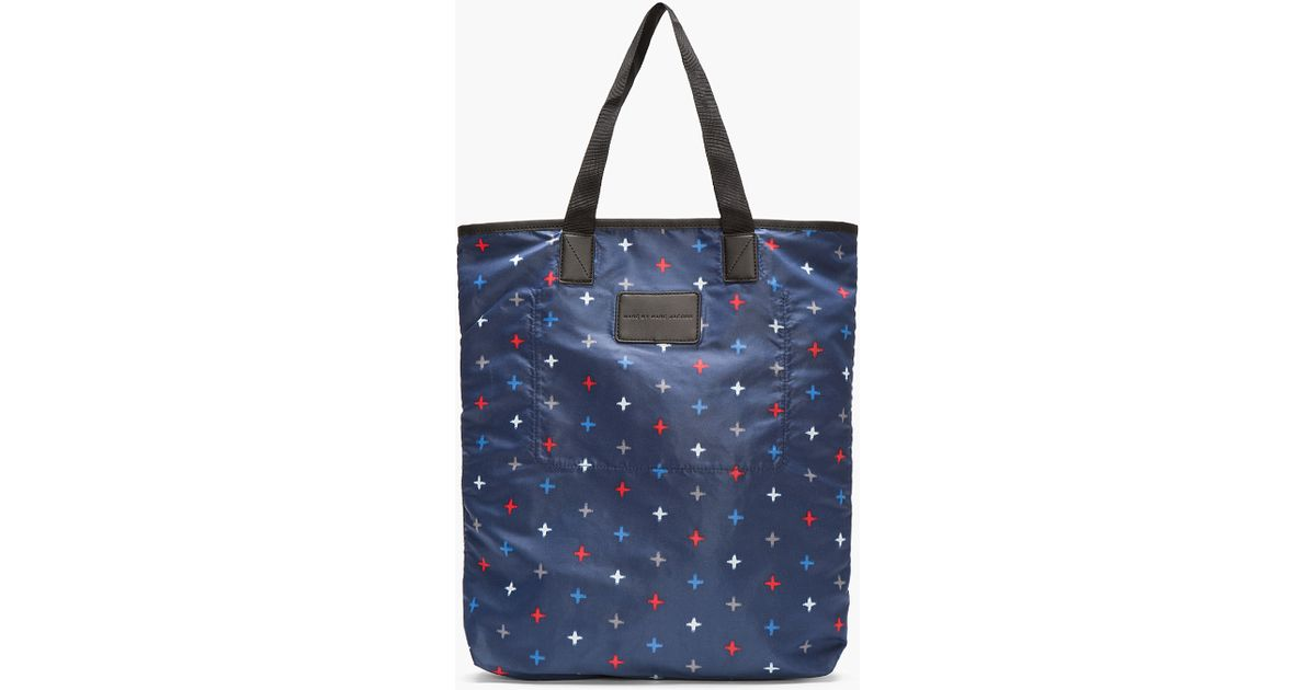 5ebd24c8ac3 Lyst - Marc By Marc Jacobs Navy Morris Star Packables Tote in Blue for Men
