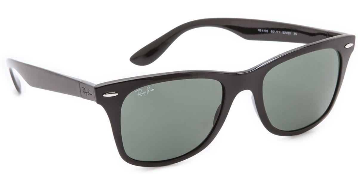 2375d8791b Ray-Ban Light Force Wayfarer Sunglasses in Black - Lyst
