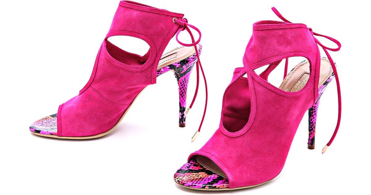 Sexy Thing 85 sandals - Pink & Purple Aquazzura bajUCBqHRZ