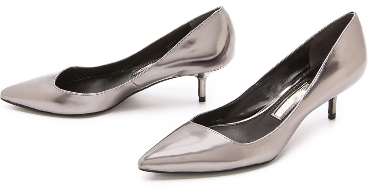Lyst - Boutique 9 Sophina Metallic Pumps On Kitten Heel in Metallic