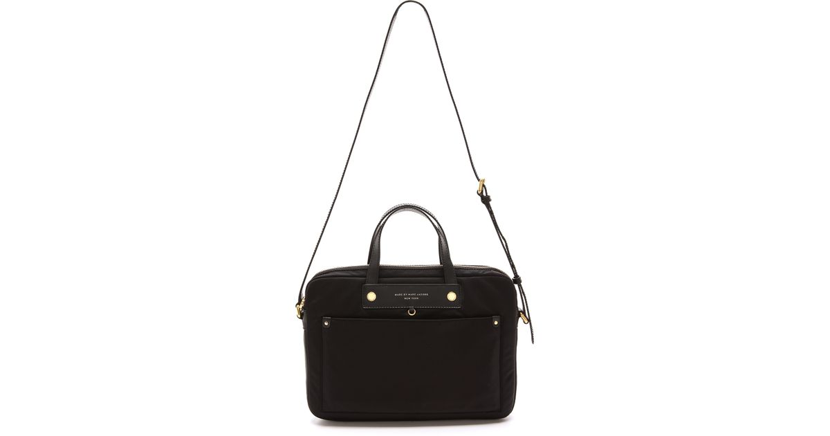 86b841398d4d Marc By Marc Jacobs Preppy Nylon 13 Commuter Computer Bag in Black - Lyst