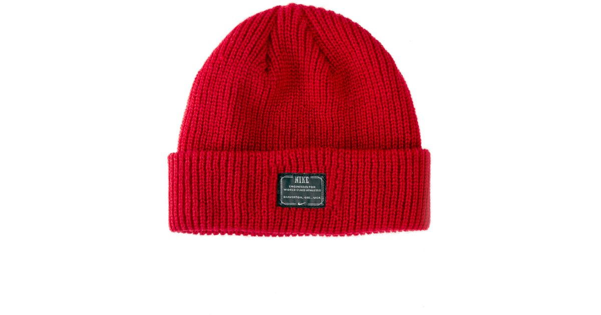 1f3589017dc1e Nike Fisherman Beanie Hat in Red for Men - Lyst