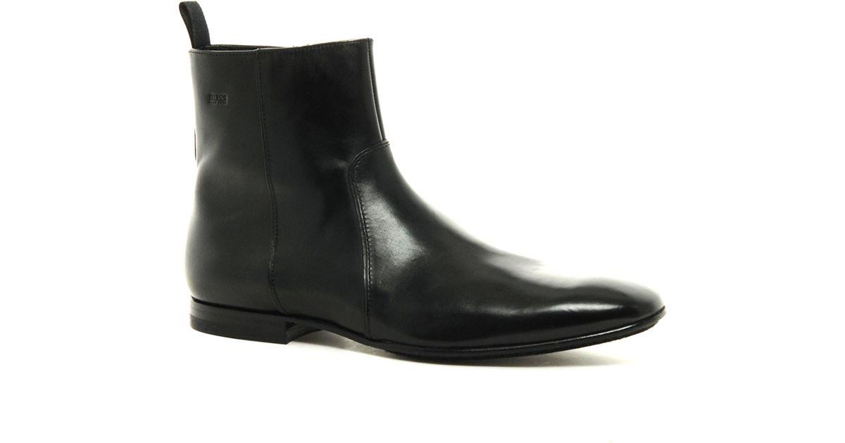ba17f9782be Black Boots For Lyst Men Hannor Zip Boss In Asos OaxBqUnz