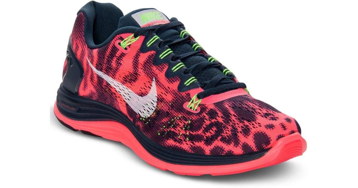 wholesale dealer 62a2f 9f3ca ... nike lunarglide 5 graphic running sneakers in pink for men lyst .. nike  lunarglide 5 lime ...