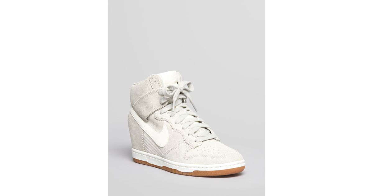 sports shoes d22fc 16eb1 Nike High Top Wedge Sneakers Dunk Sky Hi in White - Lyst