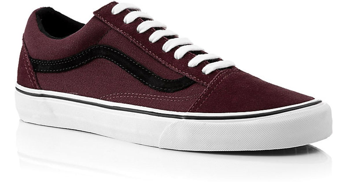 46193732e66 Vans Old Skool Shoes in Burgundy in Purple for Men - Lyst