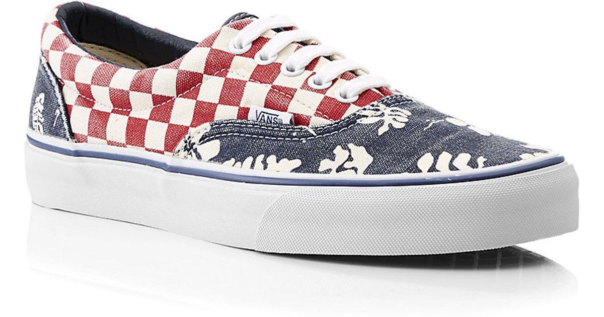 Vans Van Doren Era Shoes in Checkerboard Aloha Print in Blue for Men - Lyst d8f535a58