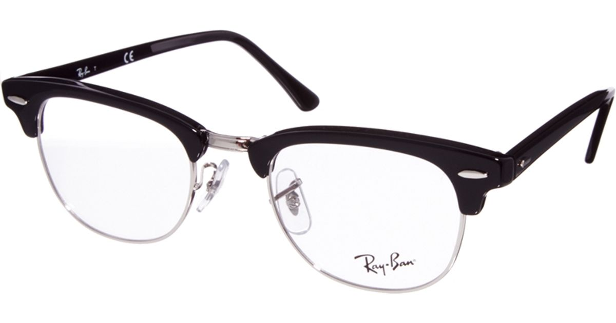 bba1cee2b1 ... inexpensive lyst ray ban clubmaster glasses in black 04243 31488 ...