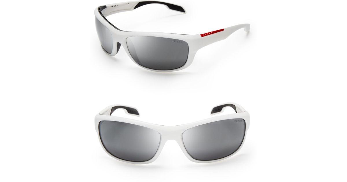 39eebdc07594 ... greece lyst prada sport wrap sunglasses in white for men c6efe f7bd6