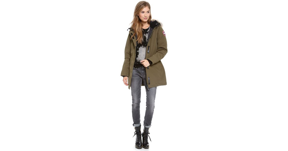 Canada Goose chilliwack parka sale shop - Canada goose Victoria Parka in Green (Military Green)   Lyst