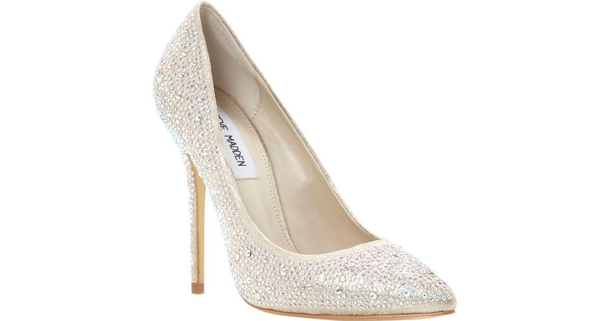 5e1d0333311 Steve madden lenona pointed toe embellished court shoes in white lyst jpg  1200x630 Steve madden sparkle