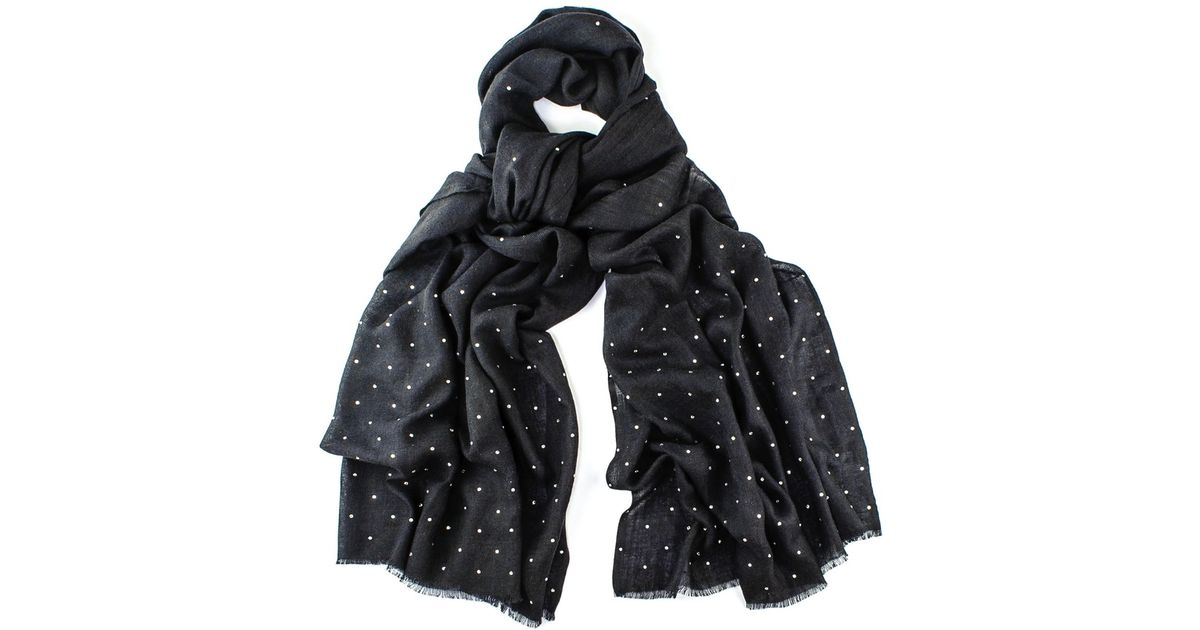 b9385f8a95 Black.co.uk Black Swarovski Crystal Scattered Wrap In Cashmere And Silk in  Black - Save 3% - Lyst