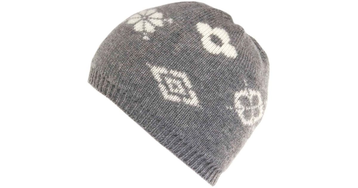f12449234eba2 Lyst - Black.co.uk Norway Grey and Cream Double Faced Cashmere Beanie in  Gray