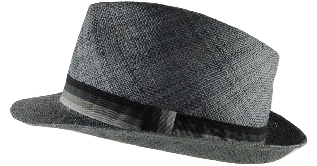 Lyst - Black.co.uk Slate Grey Straw Fedora with Grosgrain Band in Gray for  Men bc53fc02101