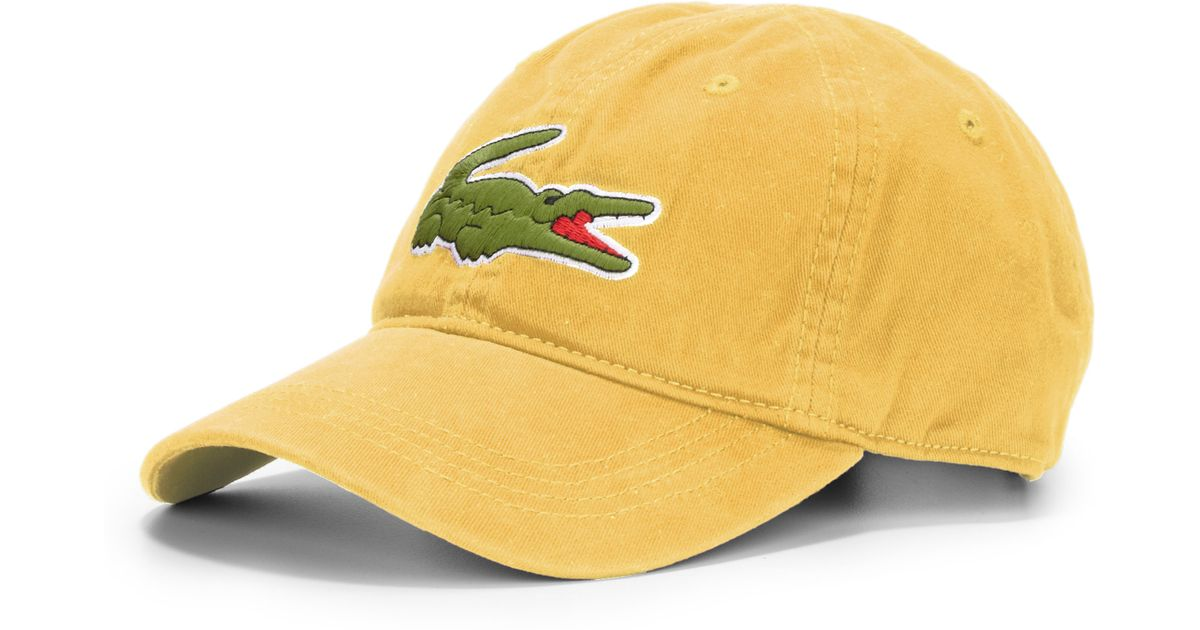 Lyst - Lacoste Cotton Baseball Cap in Yellow for Men 58eaf5ab3d1