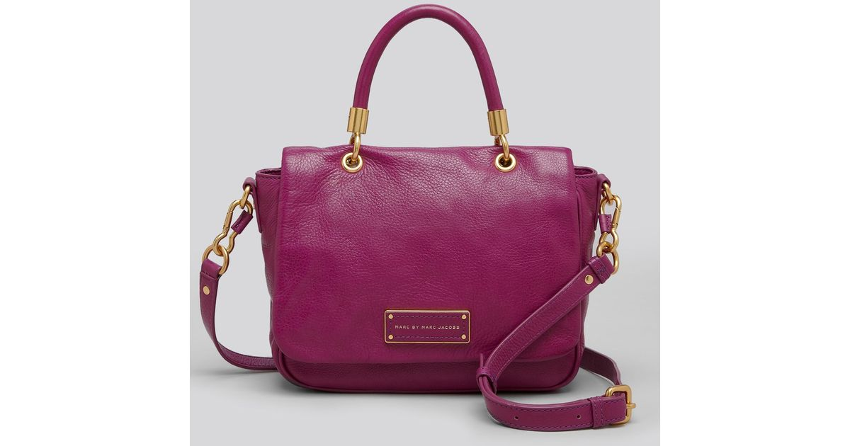 ba9f3cad891c Marc By Marc Jacobs Satchel Too Hot To Handle Small Top Handle in Purple -  Lyst