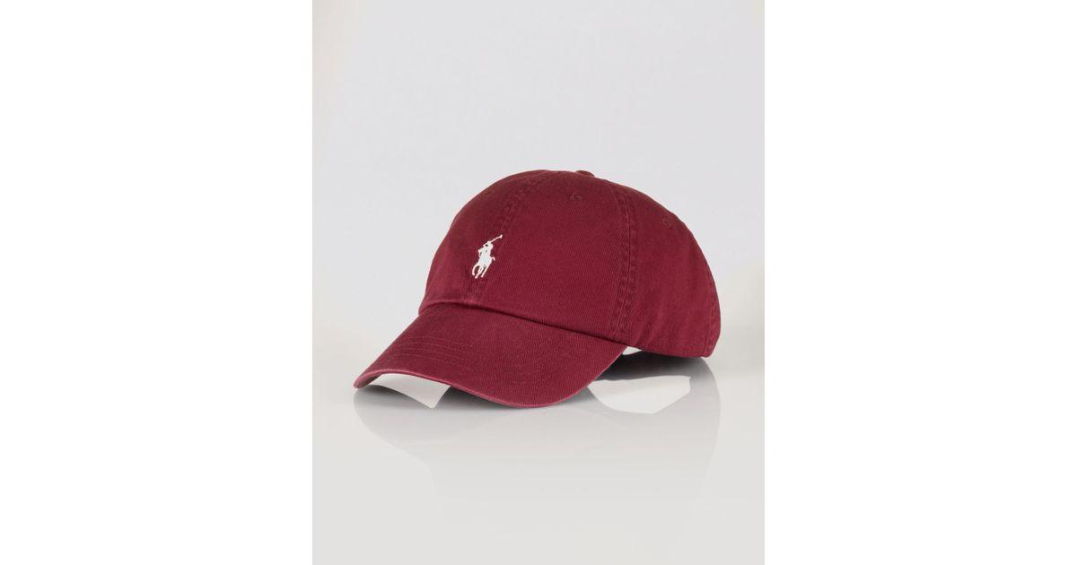 8ff98136036 Lyst - Ralph Lauren Polo Classic Chino Sports Cap in Purple for Men