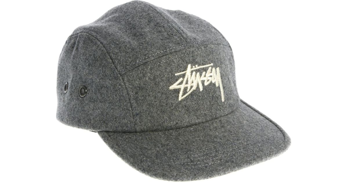 Lyst - Stussy Classic Melton 5 Panel Cap in Gray for Men 21e0bf3d84d