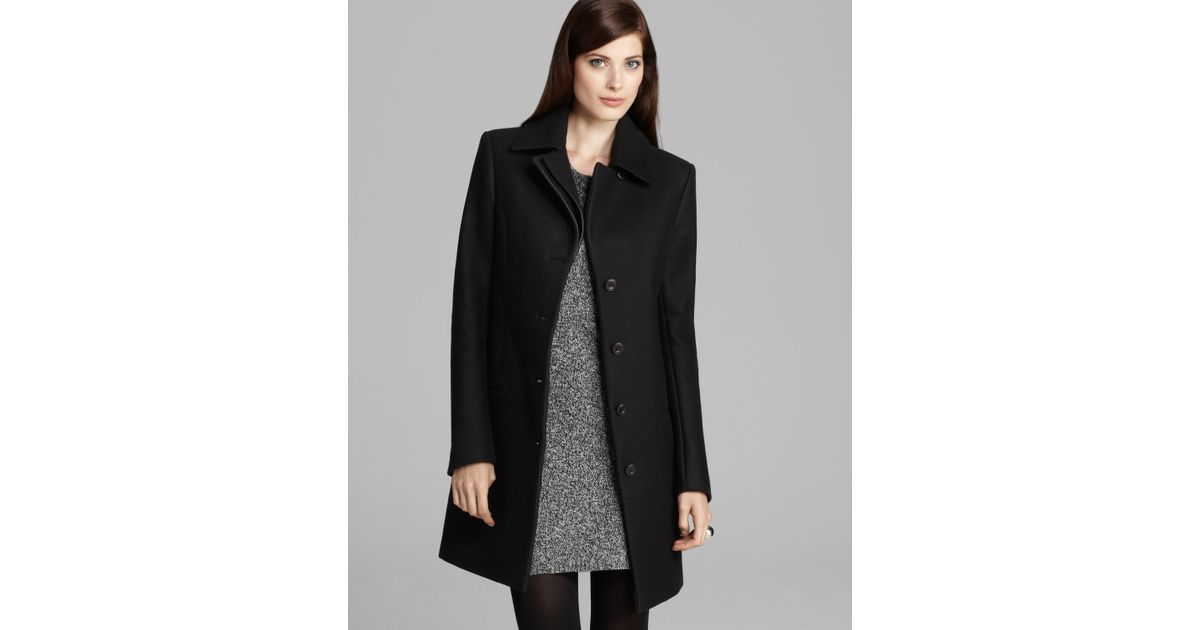 Theory Car Coat Gazella Roanoke in Black | Lyst