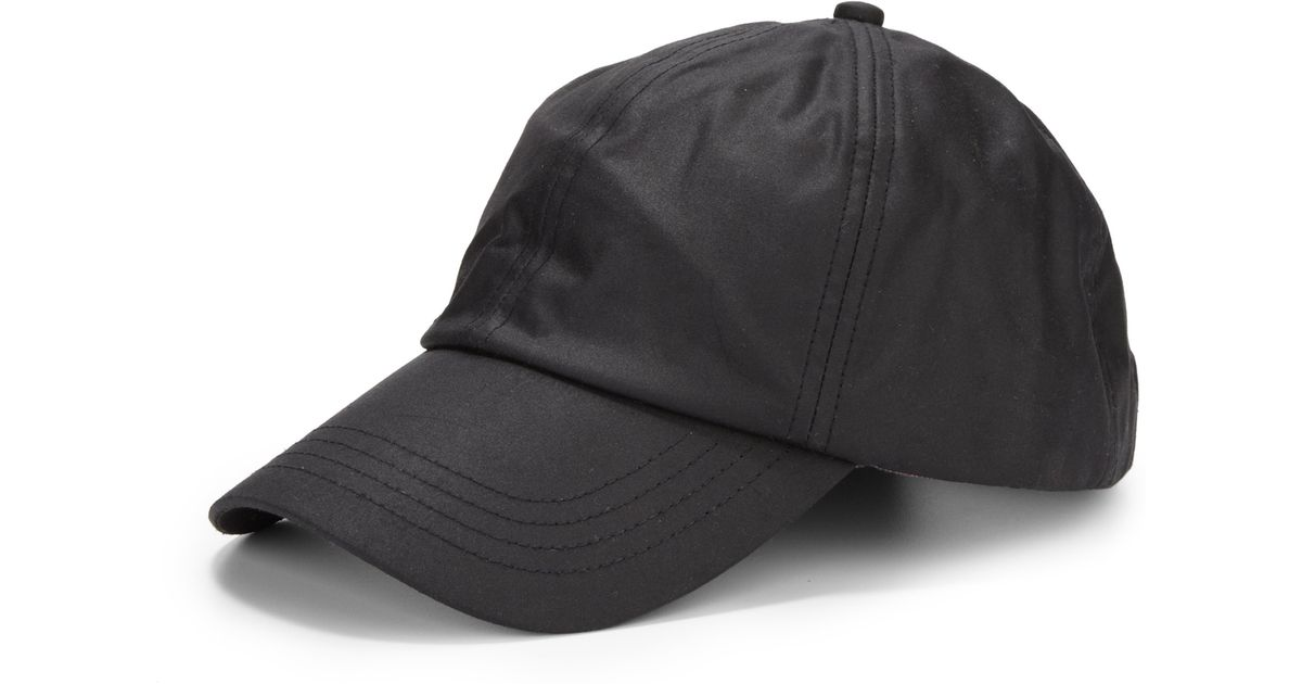 Lyst - Barbour Waxed Cotton Sports Cap in Black for Men f3605ba6996e