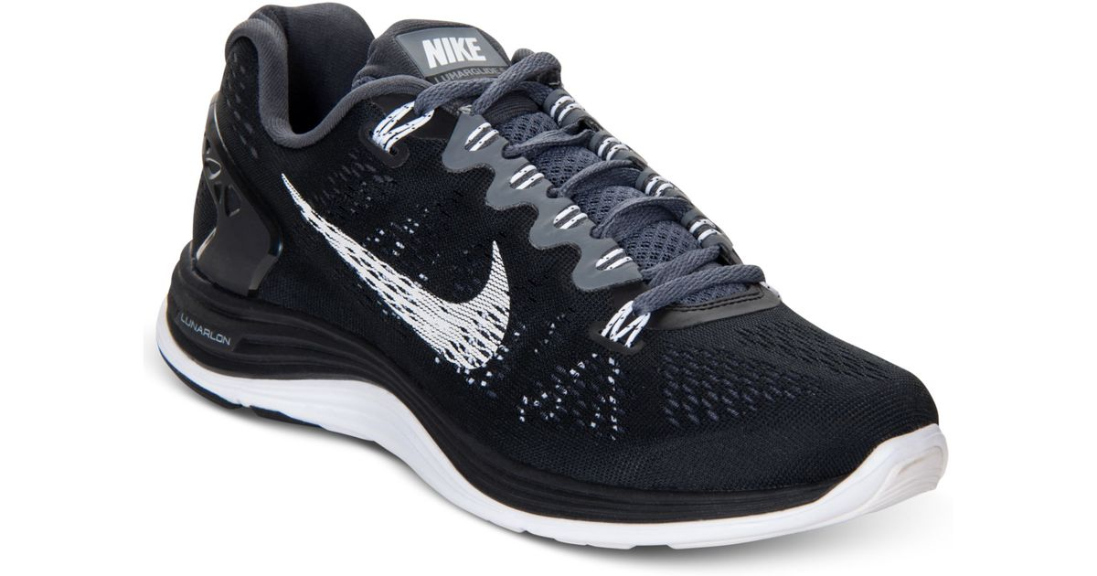 sports shoes 7874f ba305 Nike Lunarglide 5 Running Sneakers in Black - Lyst