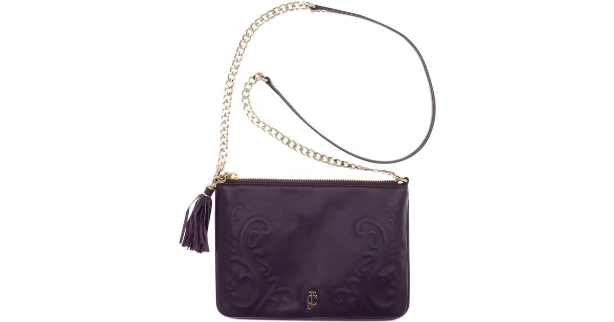 Lyst Juicy Couture Handbag Olvera Leather Flat Crossbody In Purple