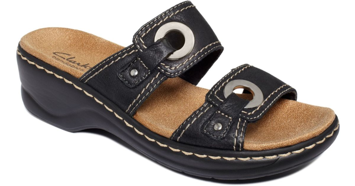 09d5a3cf5ca Lyst - Clarks Lexi Willow Slide Sandals in Black