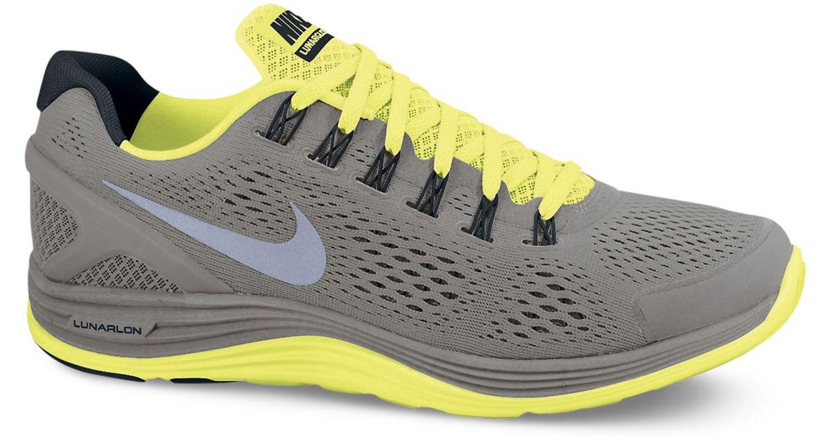 b4fb330e99d Lyst - Nike Lunarglide 4 Shield Sneakers in Gray for Men