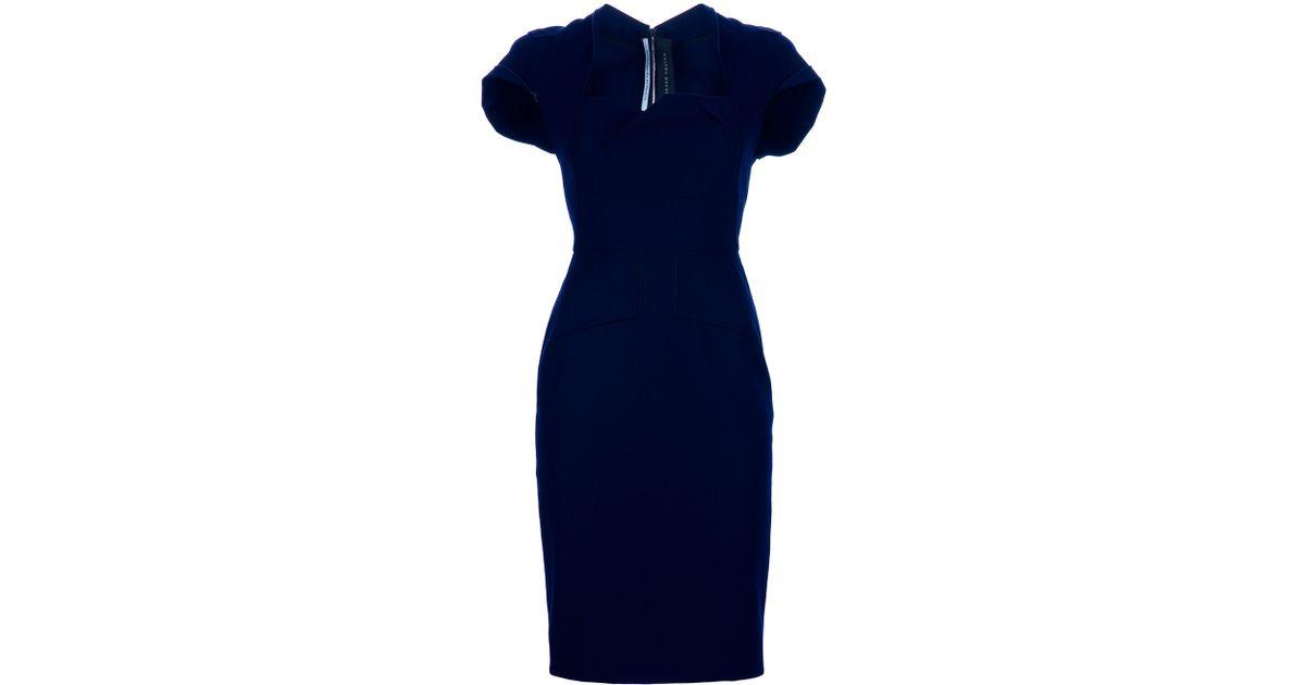 1f2c205b809 Roland Mouret Ezra Dress in Blue - Lyst