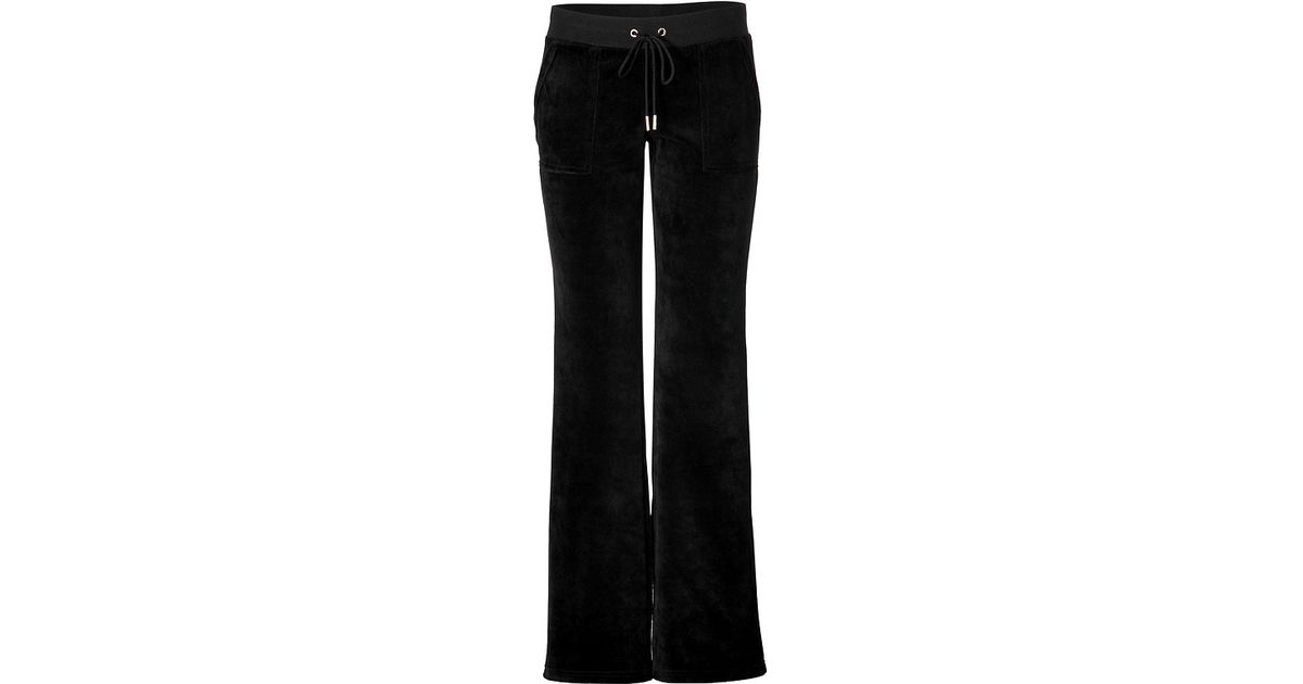 Lyst - Juicy Couture Velour Bling Bootcut Pants in Black in Black 831f703e9
