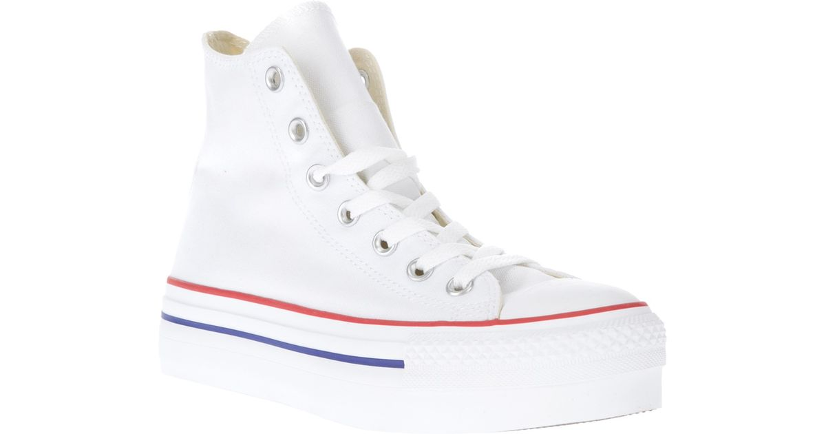 65bc6d930f65 Lyst - Converse Ct Platform Hi High Sole Trainer in White